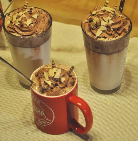Weiße Trink-Schokolade