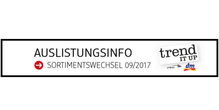 Auslistungsinfo zum trend IT UP Sortimentswechsel im September 2017