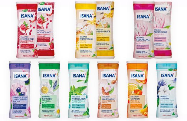 Die neuen Shampoos & Spülungen von ISANA