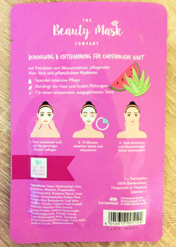 The Beauty Mask Company Tuchmasken