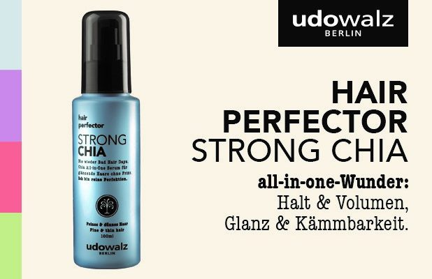 Nie wieder Bad Hair Days – mit dem STRONG Chia hair perfector Serum von udowalz!