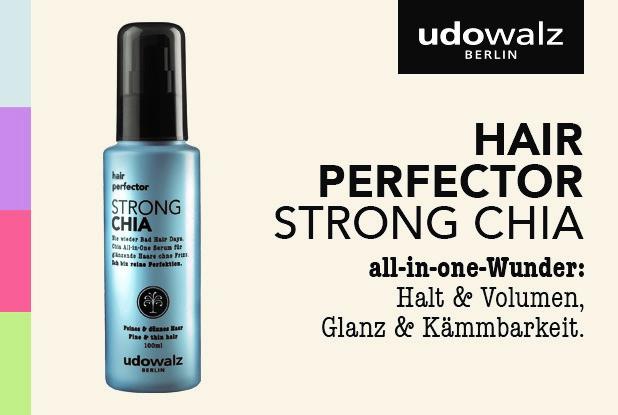 Nie wieder Bad Hair Days – mit dem STRONG Chia hair perfector Serum von udowalz!