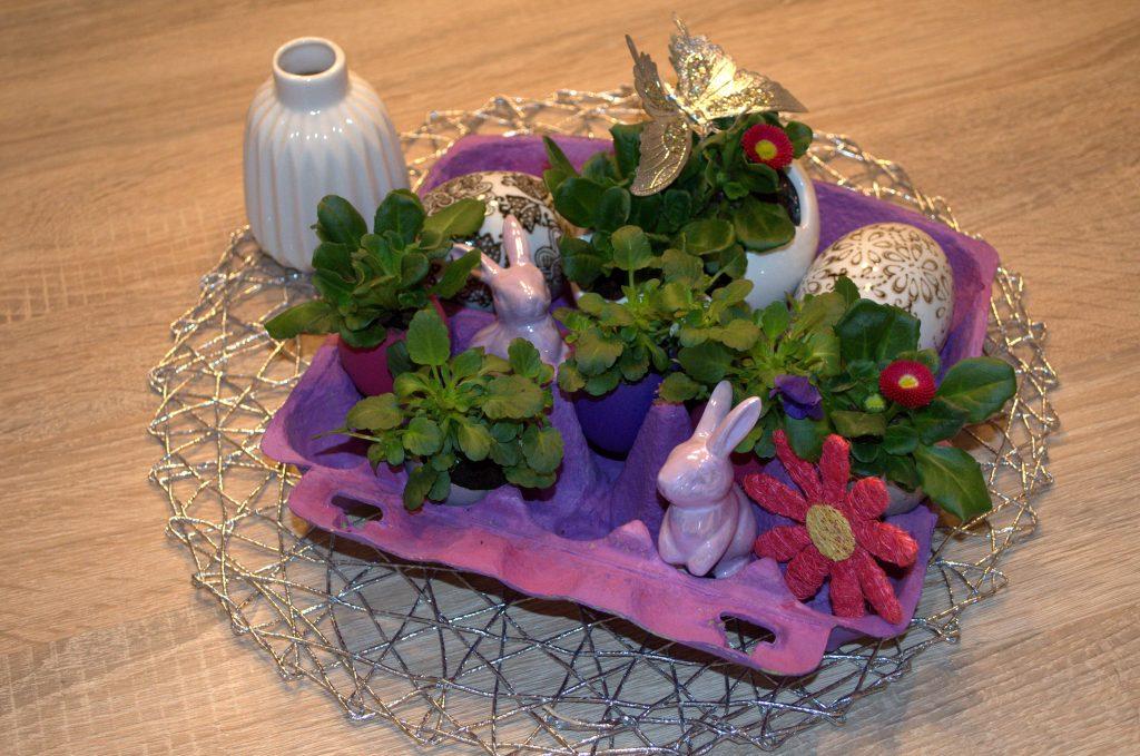 """Tischdekoration selbst gemacht – kleines Osterdeko DIY: """"Osternester mal anders"""""""