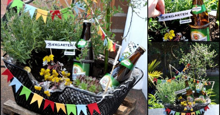 Ein Biergarten im Fahrradkorb – das Vatertags Geschenk mit Pfiff
