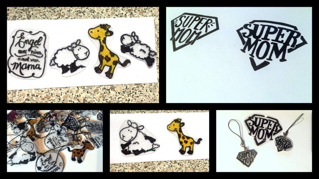 Süße Schlüsselanhänger aus Schrumpffolie – Geschenkidee zum Muttertag