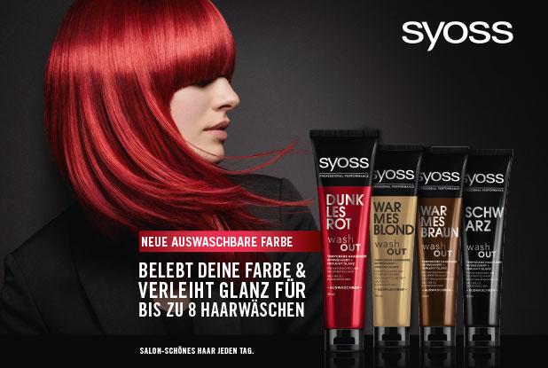 Farbkick für den grauen Herbst – SYOSS wash OUT!